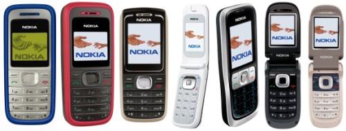 Nokia 1200, 1208, 1650, 2505, 2630, 2660, 2760
