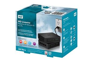 Western Digital Livewire Powerline AV Network Kit (WDBABY0000NBK)