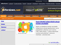 Screenshot of the AfterDawn.com front page.