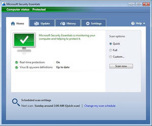 Microsoft Security Essentials for Windows XP/Vista/7 (64-bit)