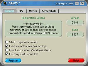 Download Fraps v3 4 1 - AfterDawn: Software downloads