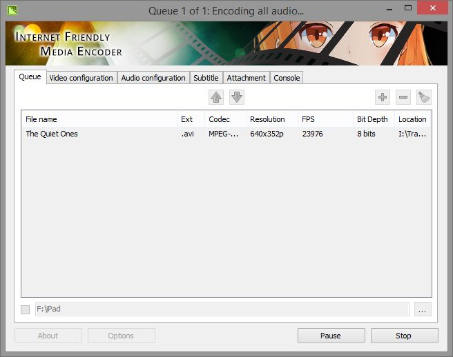 Download Internet Friendly Media Encoder (64-bit) v7 7