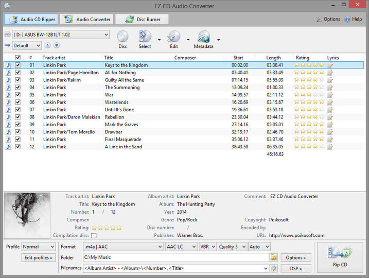 Download EZ CD Audio Converter Free v3 1 2 - AfterDawn: Software