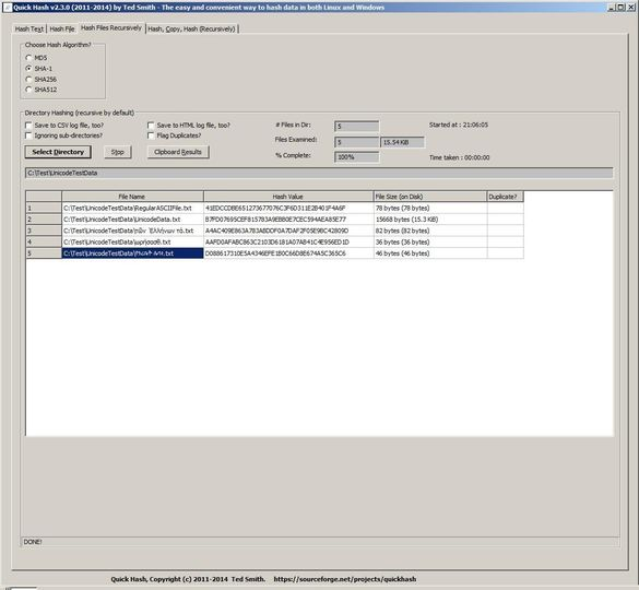 Download Quick Hash GUI v2 6 1 (open source) - AfterDawn
