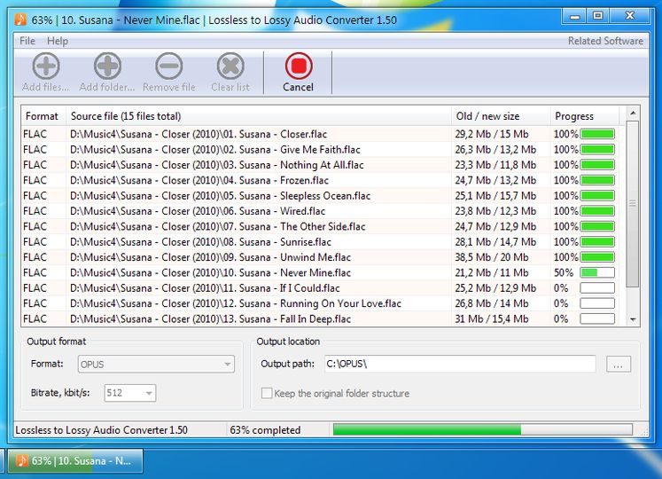 Download Lossless to Lossy Audio Converter v1 55 - AfterDawn
