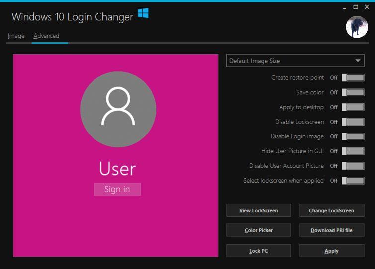 Download Windows 10 Login Changer v0 0 1 2 (freeware