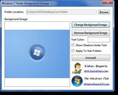 Download windows 7 folder background changer v1 1 - Windows 7 wallpaper changer software ...