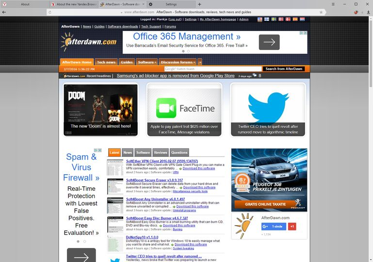 Download Yandex Browser v16 7 1 (freeware) - AfterDawn