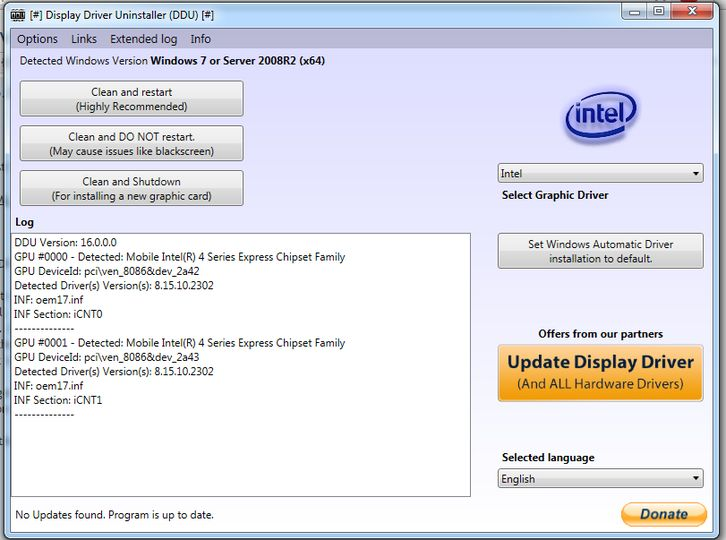 Download DDU (Display Driver Uninstaller) v18 0 1 6 (freeware