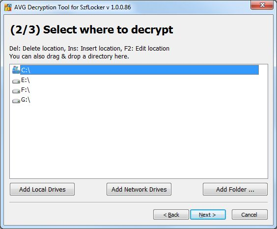 Download AVG Decryption Tool For SZFLocker v1 0 0 86