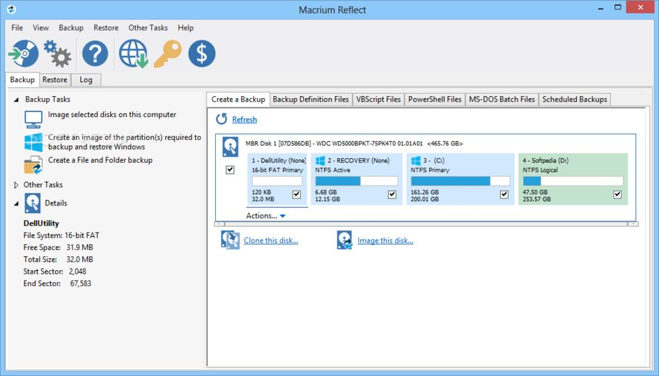 Macrium Reflect FREE (32/64 bit) v6.1.1366 screenshot 1 / 1