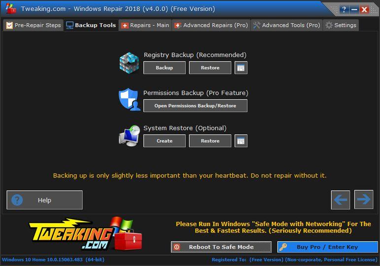 Download Tweaking.com - Windows Repair v2.11.1 (freeware