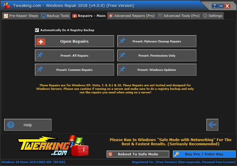 Download Tweaking.com - Windows Repair v2.11.1 (freeware