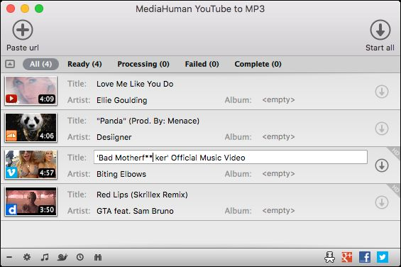 Download MediaHuman YouTube to MP3 Converter for Mac OS X