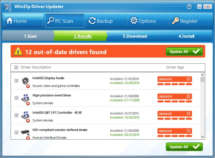 winzip driver updater free registration key