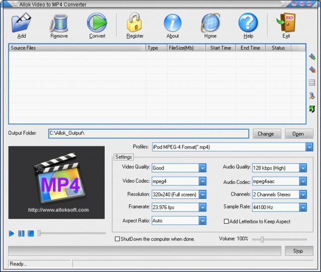 Download Allok Video to MP4 Converter v6 2 1217 - AfterDawn
