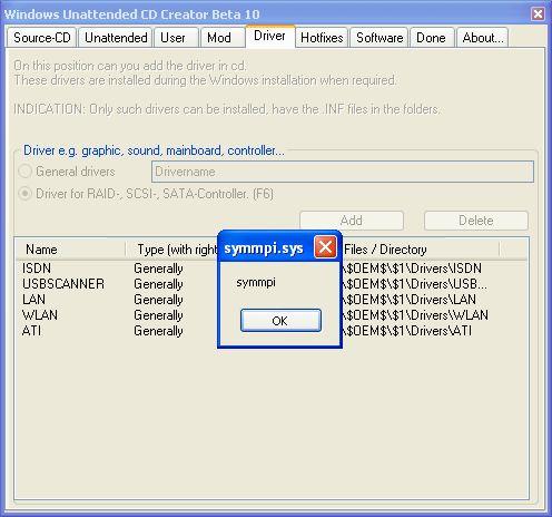 Download Windows Unattended CD Creator v1 0 2 beta 10