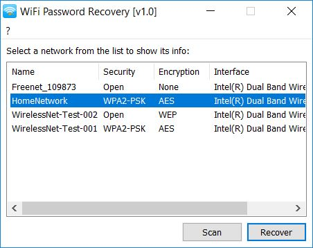 Download WiFi Password Recovery (portable) v1 0 (open source