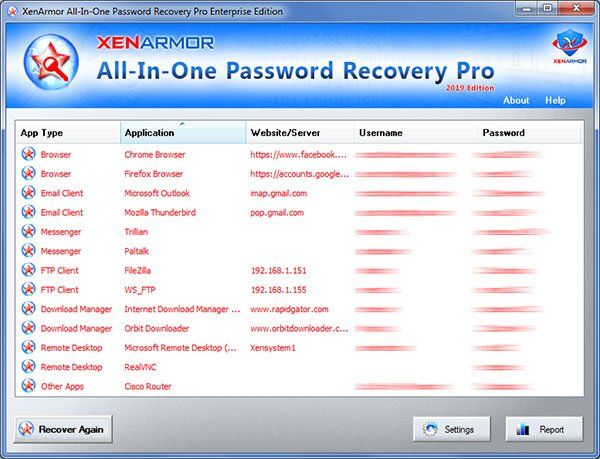 Download XenArmor All-In-One Password Recovery Pro v2 0 0 0
