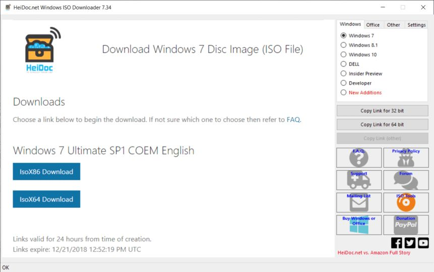 Microsoft Windows and Office ISO Download Tool v8.24 screenshot 1 / 1