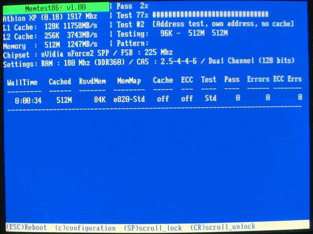 memtest bootable binary options