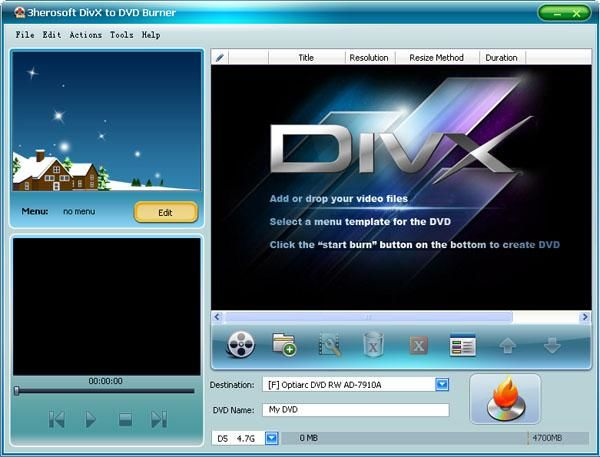 Download 3herosoft divx to dvd burner v4 2 for Dvd flick menu templates download