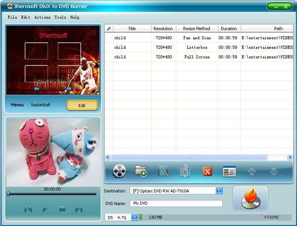 3herosoft divx to dvd burner 3 8 2 0517