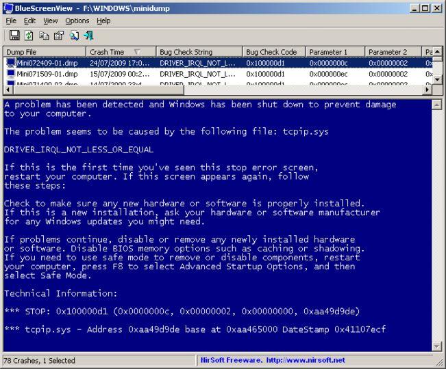 BlueScreenView V127