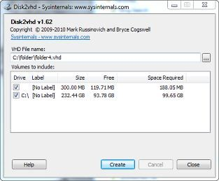 Download Disk2vhd v1 62 (freeware) - AfterDawn: Software