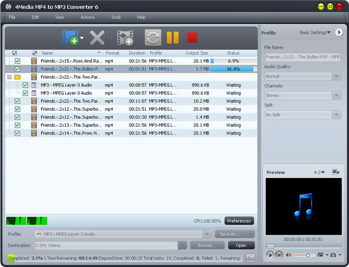 Download 4Media MP4 to MP3 Converter v06 00 02 - AfterDawn: Software