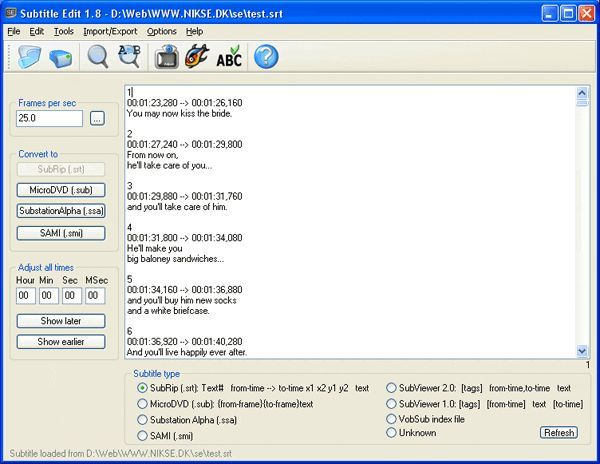 Download Subtitle Edit (Portable) v3 5 10 Beta (freeware