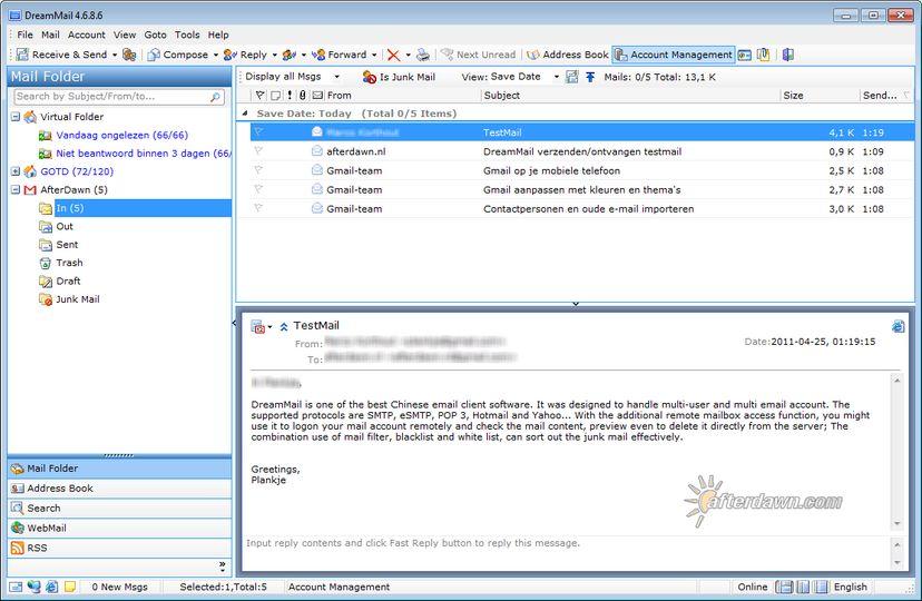 Download DreamMail v4.6.9.2 (gratis / freeware ...