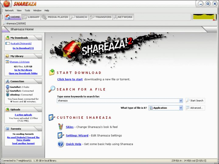 shareaza 2.1.0.0