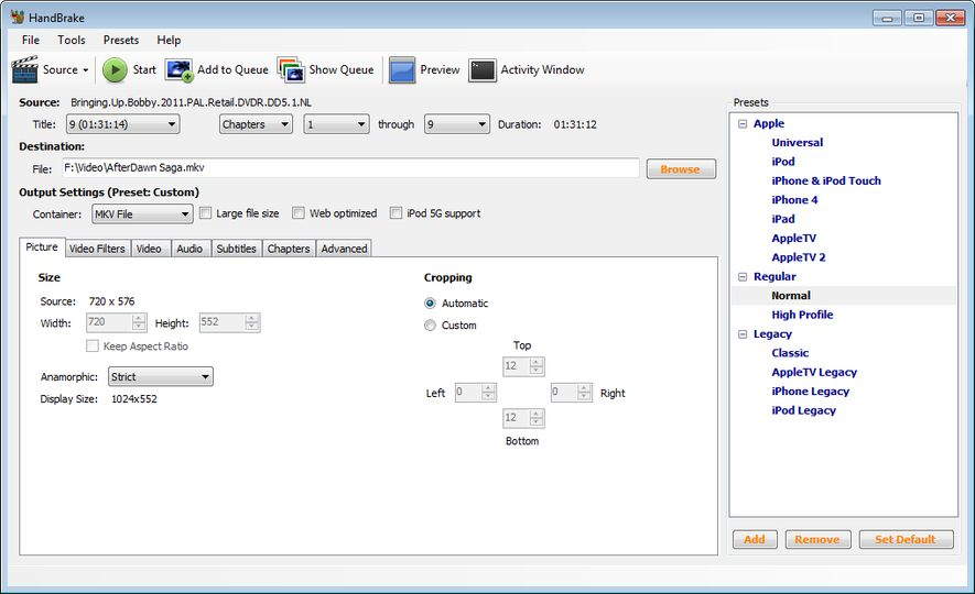 Download HandBrake (GUI) v0 9 9 (open source) - AfterDawn