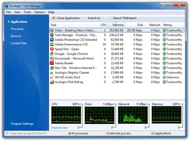 Download Auslogics Task Manager (Portable) v2 2 1 (freeware