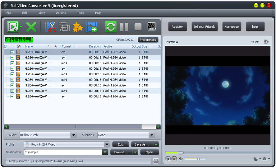 Download Full Video Converter v10 5 1 - AfterDawn: Software downloads