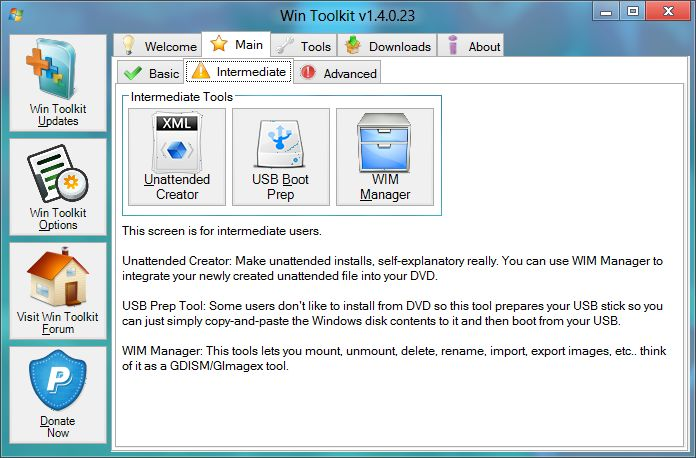 Download Win Toolkit v1 5 4 9 (freeware) - AfterDawn