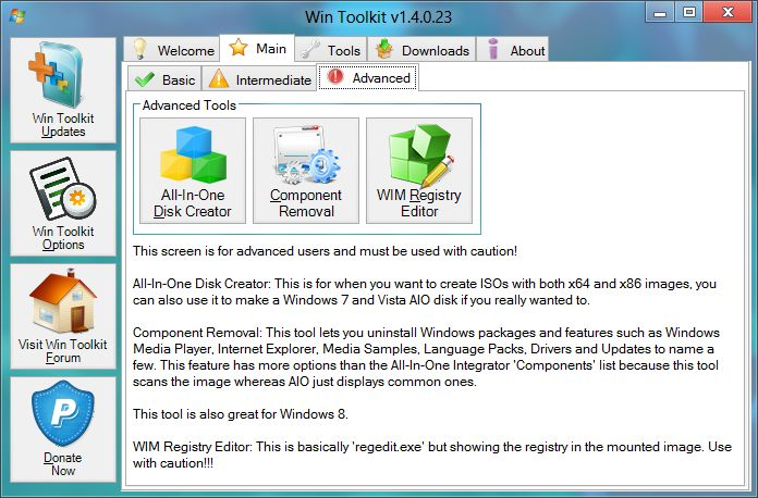 Download Win Toolkit v1 5 4 9 (freeware) - AfterDawn: Software downloads