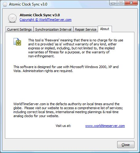 atomic clock sync v2.7.0.3