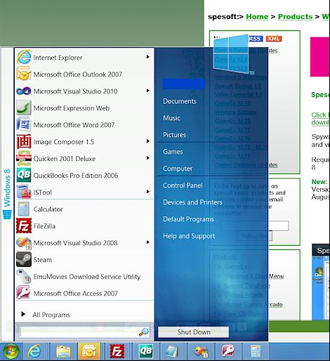 download start menu 8 free