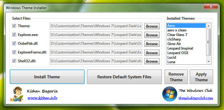 windows theme installer 1.1 free download