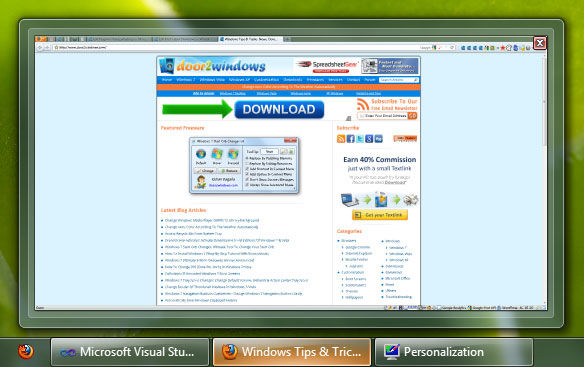 Download door2windows windows taskbar thumbnail customizer for Door to windows