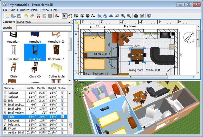 Sweet Home 3D (portable) v3.7 ...