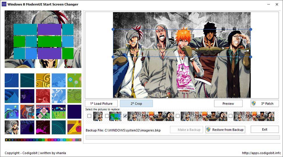 Download Windows 8 ModernUI Start Screen Changer v1 0 3