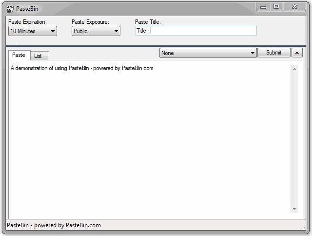 Download PasteBin v1 11 14 43 (freeware) - AfterDawn: Software downloads