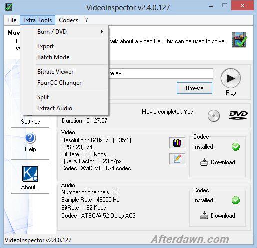 videoinspector pour mac