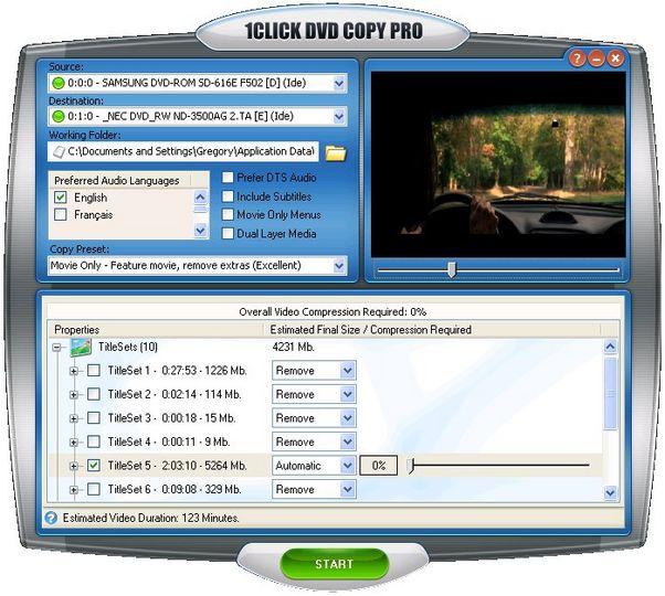 Resultado de imagen para 1CLICK DVD Copy Pro 5