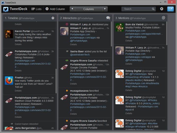 Download TweetDeck (PortableApps com) v3 3 8 (freeware) - AfterDawn