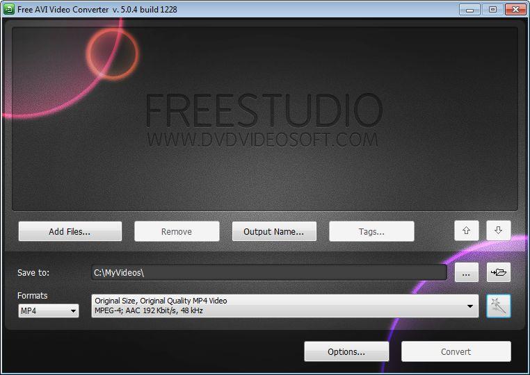 free avi video converter v 5.0 31 build 1125