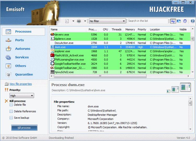 Emsisoft HiJackFree 4.5.0.10 download - pobierz za darmo